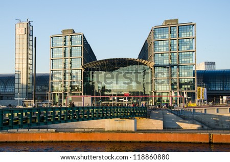 BERLIN, NOV 12: Berlin Central Station (Hauptbahnhof) building on Nov 12, 2012 in Berlin, Germany. The Central Station, opened in 2006, is the most important railway station in Berlin