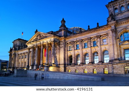 Berlin Reichstag at dawn