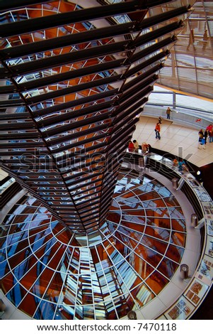 Berlin Reichstag, inside the glass dome 01