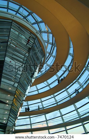 Berlin Reichstag, inside the glass dome 03