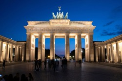 Berlin's Brandenburg Gate at blue hour