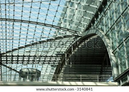 Berlin's main train station detail shot