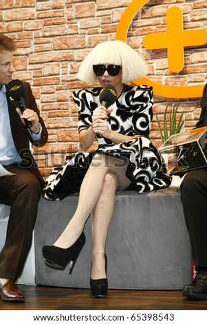 BERLIN - SEPTEMBER 07: Lady Gaga at a press confernce at the IFA 2009. September 07 2009, Berlin