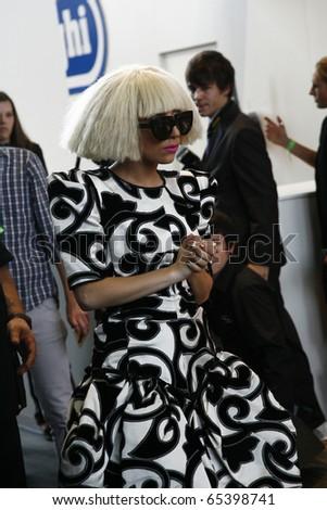 BERLIN - SEPTEMBER 07: Lady Gaga at a press confernce at the IFA 2009. September 07 2009, Berlin