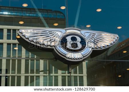 BERLIN - SEPTEMBER 04: The emblem Bentley dealership, September 04, 2012 in Berlin, Germany. Bentley Motors Limited is a British manufacturer of luxury automobiles.