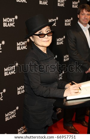 BERLIN - SEPTEMBER 12: Yoko Ono attends the Montblanc John Lennon Edition Pen Launch Party at the Spindler and Klatt. September 12, 2010 in Berlin, Germany