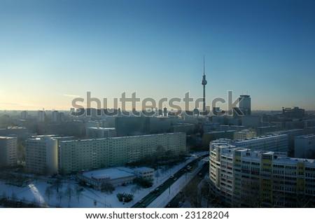 Berlin skyline with tv tower