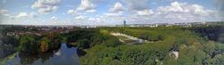 Berlin Treptower Park and skyline - Aerial panorama