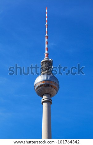 Berlin TV Tower in a sunny day