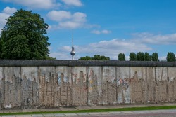Berlin Wall and Tv Tower
