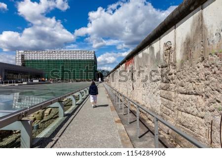 Berlin Wall in Berlin, Germany. #1154284906