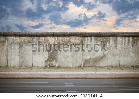 Berlin Wall in the evening