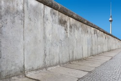 Berlin Wall with TV Tower