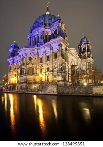 Berliner Dom at night, Berlin, Germany