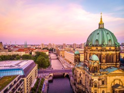 Berliner dome after sunset, Berlin