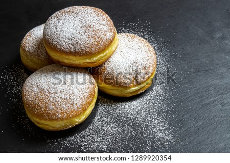 Berliner Doughnuts European donuts tradicional bakery for fasching carneval time ストックフォト ©