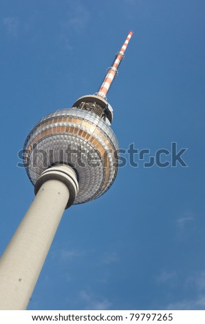 Berliner Fernsehturm (TV Tower), at Alexanderplatz in Berlin, Germany