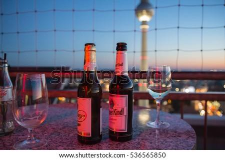 berliner kindl beer and glasses ...