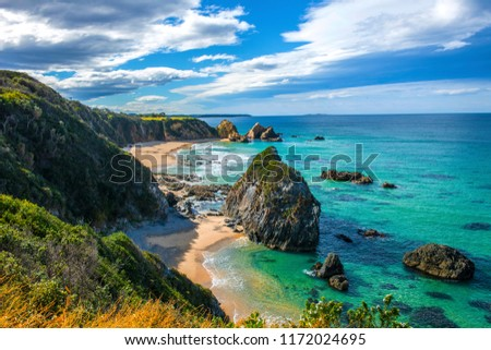 Bermagui coastline, this beautiful coastline in the far south coast of NSW is rich in landscapes with great beaches for surfing,fishing,National parks, great rock formations such as camel rock. #1172024695
