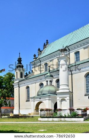 Bernardine church and monastery in Le?ajsk (Poland) - stock photo