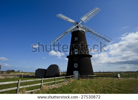 Berney Arms drainage mill on the Norfolk Broads, England