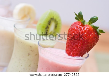 Berries and fruits smoothies