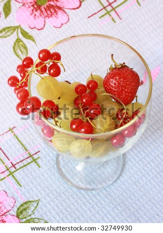 Berries assortie in the bowl