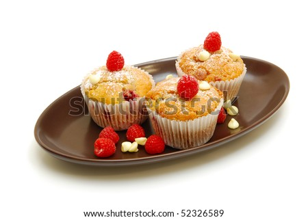 berry muffins on plate