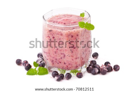 Berry smoothie with blueberry and banana