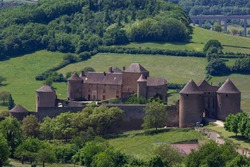 Berze le Chatel castle in Burgundy, France