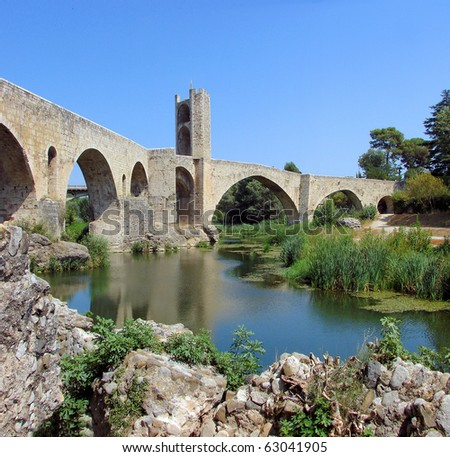 besalu and  bridge constructed by romans