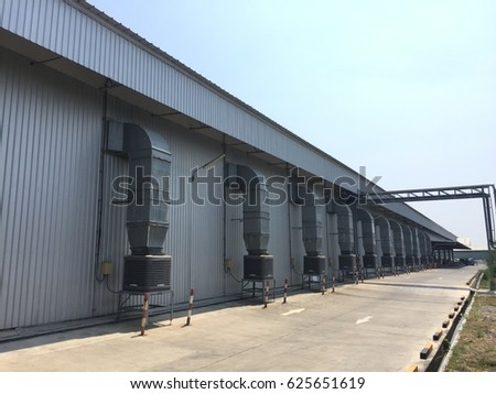 Beside a one warehouse area. The warehouse is a commercial building for storage of goods. Warehouses are used by manufacturers, importers, exporters, wholesalers, transport businesses, customs, etc. #625651619
