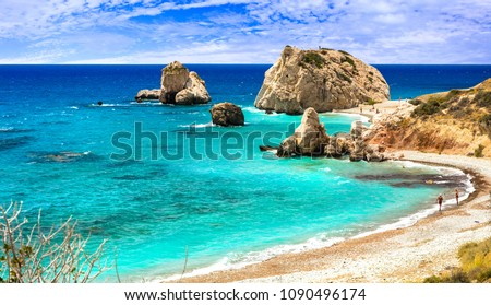 Best beaches of Cyprus - Petra tou Romiou, famous as a birthplace of Aphrodite