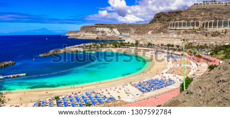 Best beaches of Grand Canary - Playa de los amadores. Canary islands