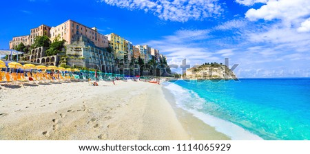 Best beaches of Italy and beautiful town- Tropea in Calabria