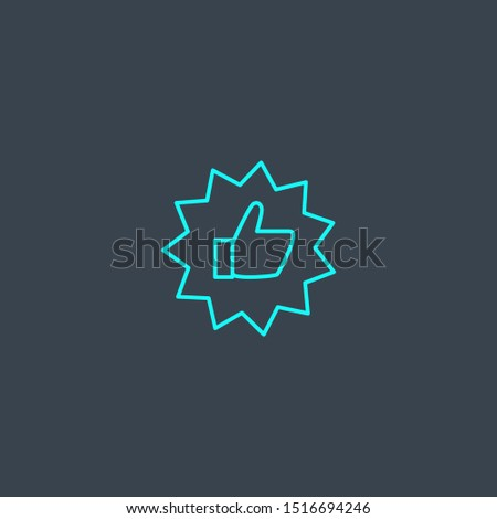 best choice concept blue line icon. Simple thin element on dark background. best choice concept outline symbol design. Can be used for web and mobile UI/UX