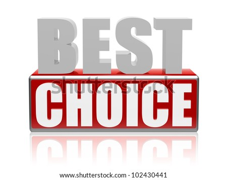 best choice 3d letters with red box