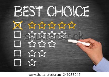 Best Choice - five golden stars #349255049