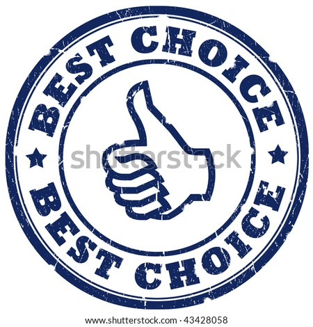 Best choice stamp isolated over white