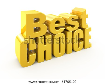 Best choice tag isolated on white