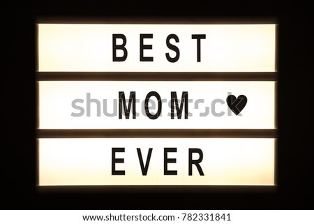 Best mom ever hanging light box sign board. #782331841
