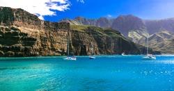 best of Gran Canaria island - spectacular rocks in Puerto de las Nieves