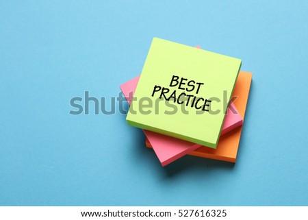 Best Practice, Business Concept