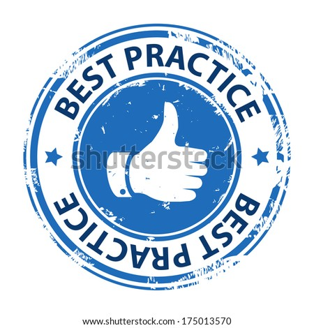 Best practice rubber stamp icon isolated on white background. Illustration