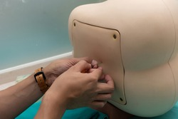 Best practice simulator for lumbar puncture and epidural anesthesia,  five types of puncture blocks enhance training with different levels of challenges
