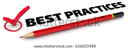 Best practices. The check mark