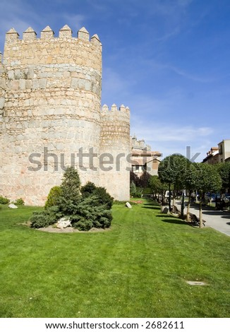 Best preserved medieval city walls in Europe.  Situated in Avila, Spain in Castilla y Leon province near Madrid.