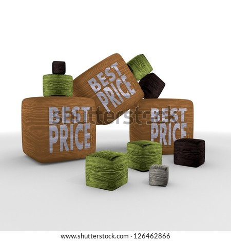 best price discount wooden symbol cubes