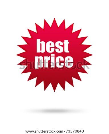 Best price mark over white background, star illustration