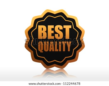 best quality black golden starlike label with text